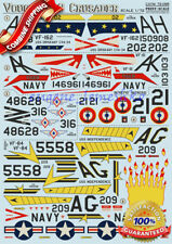 """Print Scale 72-095 """" Wet Decal for Vought F-8 Crusader """" Model Decals 1/72"""