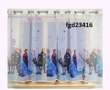 Luxury FROZEN Net eyelet rings Curtain Slot Top 75cm x 150cm