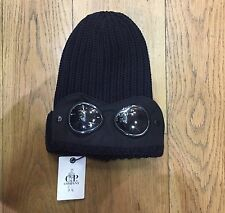 CP COMPANY BLU NAVY LANA Slouch Goggle Cappello Beanie RRP £ 125.00