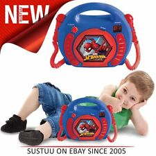 Lexibook RCDK100SP Enfants Spider-Man Lecteur CD │ 2 Microphones │ Affichage Led