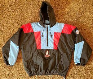 STARTER Vintage Houston Oilers NFL 90's Pullover Jacket Coat Size XXL 2XL RARE