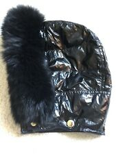 BURBERRY QUILTED FUR DETACHED HOOD BLACK