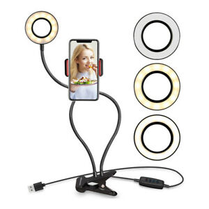 Selfie Ring Light with Cell Phone Holder Stand for Live Stream Makeup