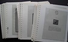Albenblätter Lindner 250 Stück mit 1 Taschen für klbg,  Blöcke wie T-Blanko
