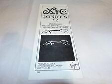 XTC - Petite Publicité de magazine / Advert  !!!! LONDRES 82 !!!