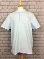 LACOSTE SPORT MENS UK XL L 6 PALE BLUE SHORT SLEEVE POLO T SHIRT TOP RRP £75
