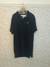 """Camisa polo Abercrombie & Fitch Azul """"músculo"""" Grande 42"""" y largo"""