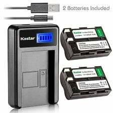 Kastar Battery and LCD Slim USB Charger for Nikon EN-EL3a D50 D70 D70s D100