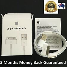 APPLE Genuine Original USB Charger Data Sync Cable iPhone 4 4S 3S iPod  iPad 2 3