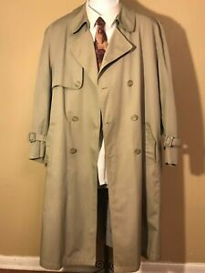 MISTY HARBOR MEN'S LONG BEIGE TRENCH COAT - SIZE 44