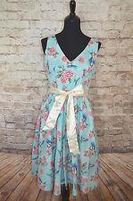 Modcloth Freewheeling Whimsy Dress NWT Sz M  Helly Bunny birds roses