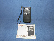 VINTAGE YORX P3754 TV / FM  / WEATHER BAND TRANSISTOR RADIO WITH INSTRUCTIONS