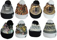 Mens Woolly Winter Beanie Hat Cap Designer Graphic Printed in 8 Styles