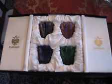New Faberge Heavy Cut Crystal Glasses-Blue, Purple, Red And Green In The Box
