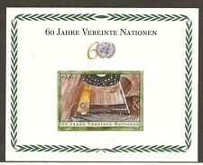 United Nations Vienna SC  # 358 60th Anniversary .2005 Souvenir Sheet. MNH