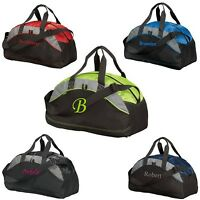 Small Personalized Duffel Bag Embroidered Monogrammed Groomsmen Gift Gym Wedding