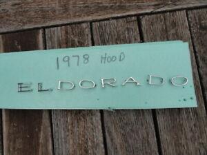 CADILLAC ELDORADO 1978 HOOD LETTERS SUPER NICE   1978