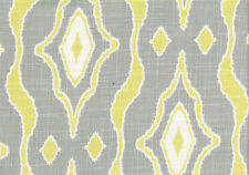 Magnolia Home Fabric Max Citrus  Gray Chartreuse White  Drapery Upholstery