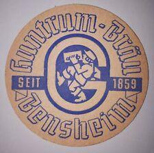 ANCIEN SOUS BOCK - BIERDECKEL - GUNTRUM-BRAÜ BENSHEIM SEIT 1859 GUNTRUM BIER