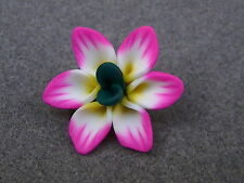 10 Handmade Colourful Polymer Clay Flowers. 11 Colours (BOX15)