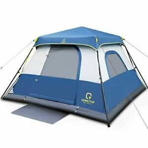 6 Person Camping Tent, Waterproof Pop Up Tent with Top Rainfly, Instant Cabin Te