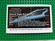 Ersatz Aufkleber/Sticker für LEGO Star Wars Set 10221 Super Star Destroyer -UCS