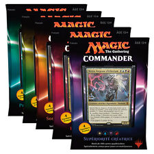 FRENCH Magic MTG 2016 Commander C16 Sealed Deck Complete Box Set The Gathering
