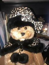 "22"" ANASTASIA vtg CHANTILLY LANE MUSICAL Mechanical Singing w Cheetah Cape TEDDY"