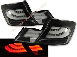 Set of 4pcs Black LED Taillights for 2013-2015 Honda Civic 4dr Sedan