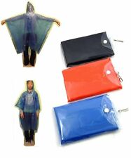 2 x Adults Re- Usable Rain Ponchos / Cape in a Handy PVC Case  1 Red & 1 Blue