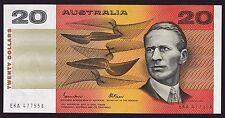 20 Dollars $20 Australian Banknote 1985 Johnston Fraser R409b Gothic Serial