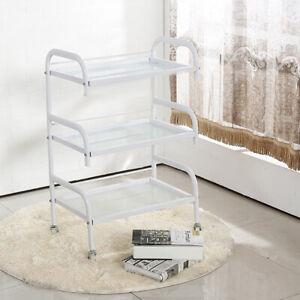 Toughened Glass Trolley Shelf 3-layer beauty Frame  Shelves Hair Beauty Salon
