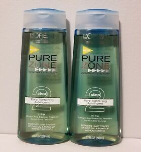 X2 NEW L'Oreal Pure Zone Continuous Action Step 2 Pore Tightening Astringent