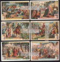 Holy Crusades Jerusalem Palestine 6 BEAUTIFUL c1910 Trade Ad  Cards