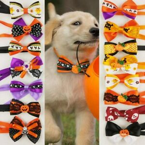 15pcs/Pack Dog Cat Puppy Bow Ties Bowties Collar for Halloween Festival