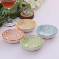 "8-Piece 4 Colors Patterned Porcelain China Ceramic 3.5"" Dinner Service Dish Set"