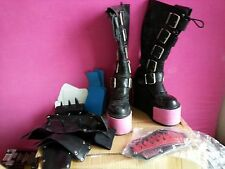 Demonia Platform Transformer Boots With 6 Interchangable Plates Lot Size 9