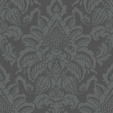 métaux précieux scintillant Damas Gris Papier peint - Gunmetal - Arthouse 673201