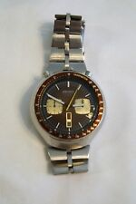 Seiko 6138-0049 Bullhead Chronograph Automatic Watch Rare Excellent Brown Works