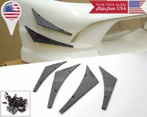 4 Pcs Black Bumper Lip Splitter Fin Spoiler Canards Valence Diffuser for Dodge