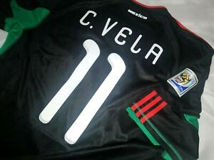 Jersey mexico adidas Carlos Vela (S) 2010 world cup south africa LAFC mls black