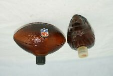 Avon Lot of 2 Amber Glass Indian Chief Head Nfl Football AfterShave Empty Bottle