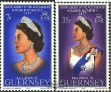 GB - Guernsey 145-146 (kompl.Ausg.) postfrisch 1977 Königin Elisabeth II.
