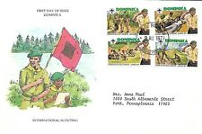 DOMINICA 1977 FIRST DAY COVER, BOY SCOUTS