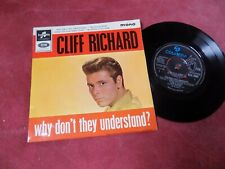 "CLIFF RICHARD Why don't they understand RARE 7"" EP UK mono 1960's POP"