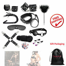 11pcs Sex Play Bed Restraints BDSM SM Toys Adults Kit Men Women Gift Packaging