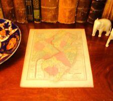 Original Pre-Civil War 1857 Hand-Colored Antique Map NEW JERSEY Atlantic City NJ