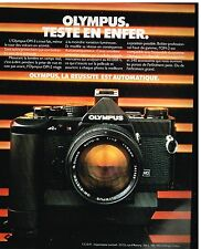 Publicité Advertising 1980 Appareil photo Olympus OM-2