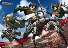 Attack on Titan Eren/Mikasa/Armin Card Game Character Rubber Play Mat Anime Art