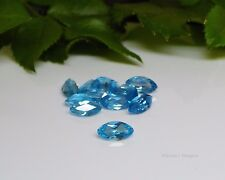 8x4 Marquise Swiss Blue Topaz Faceted Gemstones VVS .62cts